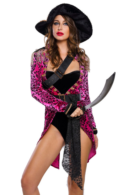 Costume de Pirate d'Halloween Sexy Swashbuckler