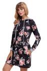 Floral Hoodie Kleid