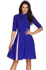 Robe vintage avec nœud papillon bleu royal