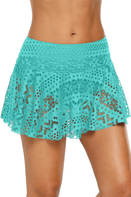 Green Crochet Lace Skirted Bikini Bottom