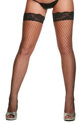 Fence Net Thigh Hi Stockings