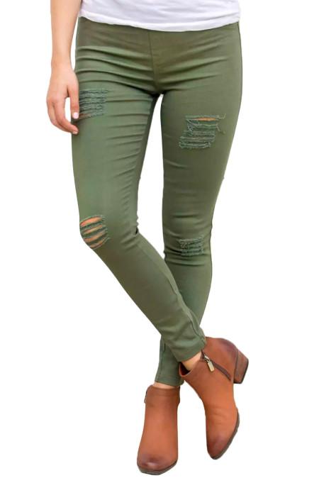 Calça Jeans Stretch Front Stretch Verde