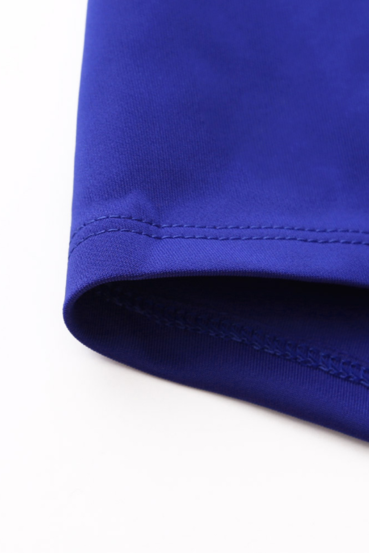 Mock Denim Plus Size Swimdress Arctic Print 2-PC Straps Style