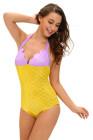 Lila gelbes Funkeln-kleines Meerjungfrau-Teddy-Kostüm