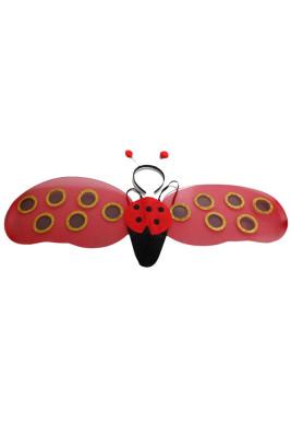 Lieveheersbeestje hoofdband & vleugels kostuum accessoire