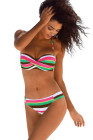 Boho Stripes Push up Bikini Set