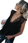 Black From A Dream Lace Tank Top with Vest