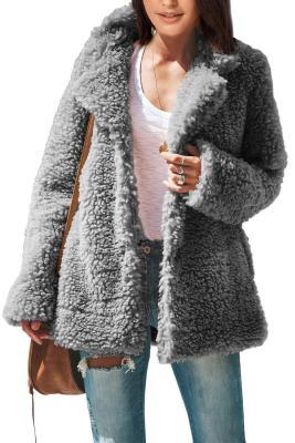 Chaqueta Sherpa con bolsillos icónica gris