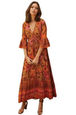 Multicolor Lady Love Maxi Dress
