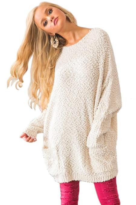 Abricot Winter Break Camisola de malha de túnica