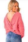 Camisola de torção rosa