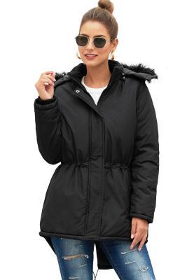 Черная британбушская куртка с капюшоном