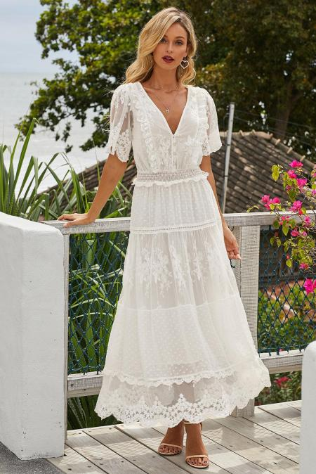 Luminous Dawn Lace Gown