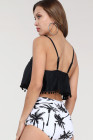 Plant Print High Waist Swimsuit