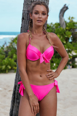 Rose Push Up Bikini with Ties