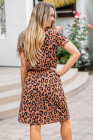 Brown Cheetah Tunic Dress