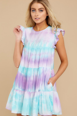 Vestido Magic Maker Purple Tie Dye Multi