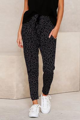 Pantalones pitillo de leopardo pitillo grises