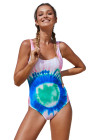 Tie Dye One-piece Swimwear