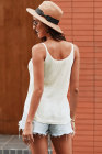 White Metallic Cami Tank