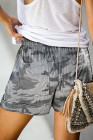 Camouflague Elastic Waist Shorts