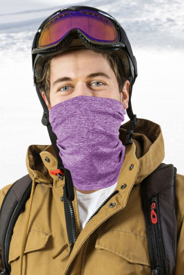 Heathered Purple Outdoor Workout Sport Hals Gamasche Bandanas Gesichtsmaske