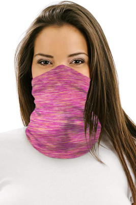 Heathered Multicolor Outdoor Workout Sports Neck Gaiter Bandanas Face Mask