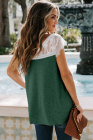 Green Lace Knit Tank