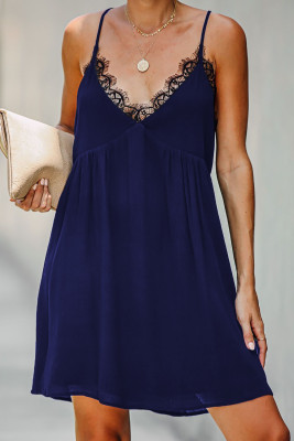 Blue Lace Babydoll Dress