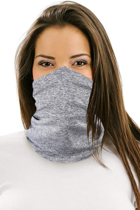 Hearthered Gray Outdoor Workout Sports Neck Gaiter Bandanas Face Mask