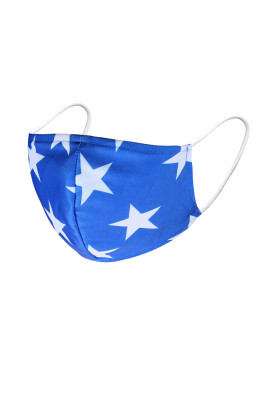 Máscara Facial Blue Star Print American Spirit