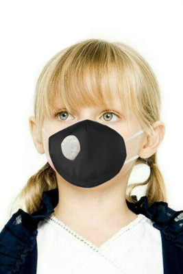 Black Toddler Breath Protection Valved Respirator Face Mask