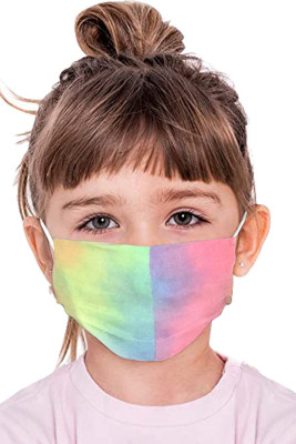 Multicolor Tie Dye Toddler Reusable Face Mask