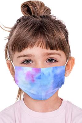 Masque facial réutilisable bleu ciel Tie Dye pour tout-petit