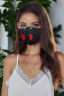 Lèvres rouges impriment un masque anti-grippe avec des filtres 5PCS