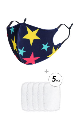 Star Print Anti Flu Mask With 5PCS Filters