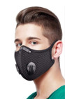 Double Air Breathing Valve Black Anti Flu Mask