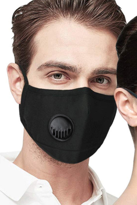 5pcs Anti-Pollution Activated Carbon Black Breathing Valve Face Mask