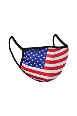 Máscara reutilizable con estampado de bandera americana