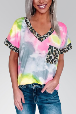 Pink Hypnotized Tie Dye Leopard Top