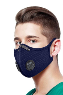 Double Air Breathing Valve Sky Blue Anti Flu Mask