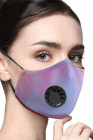 Blue Tie Dye Anti-Pollution Activated Carbon gezichtsmasker met ademhalingsautomaat