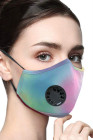 Masque facial à charbon actif anti-pollution multicolore Tie Dye avec valve respiratoire