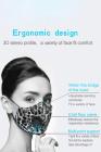 Aprikosen Leopard Anti-Pollution Aktivkohle Gesichtsmaske mit Atemventil