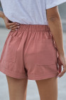 Short Tencel à poches rose poussiéreux