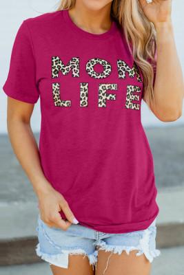 Camiseta con estampado de leopardo de MOM LIFE Rose