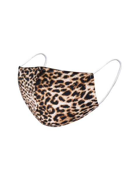 Brown Cheetah Print Anti-pollution Dustproof Windproof Face Mask