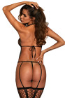 Open Back Netted Bodystocking