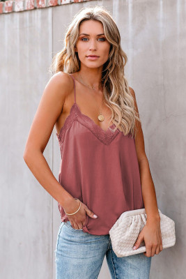 Delicate Balance Lace Cami Tank