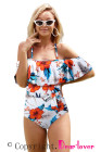 Print Ruffled One-piece Swimsuit